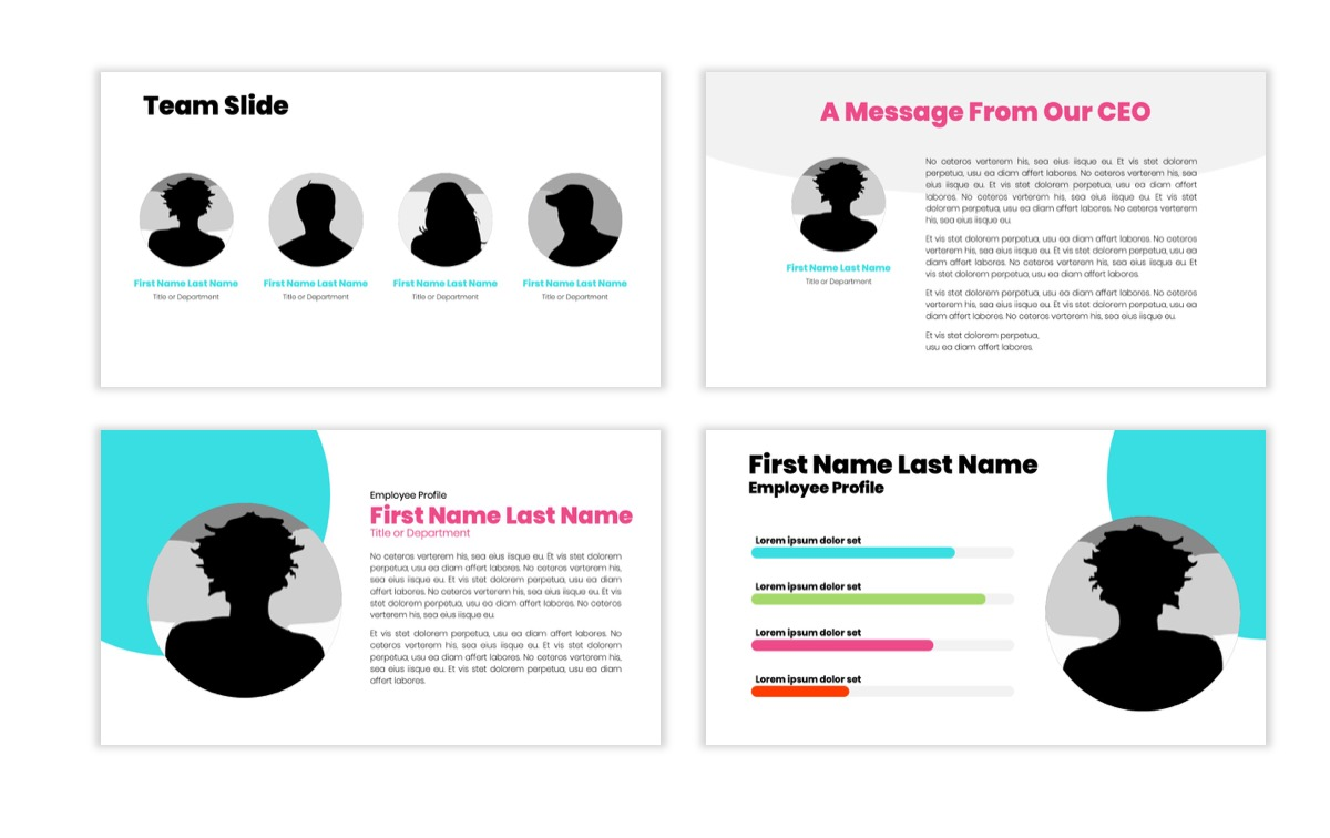 Circles PPT Template - Professional - Teal - Pink - Bright - Business - Professional Slide25
