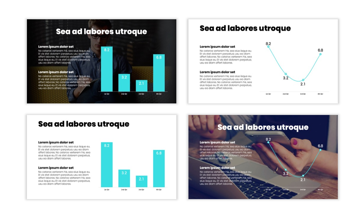 Circles PPT Template - Professional - Teal - Pink - Bright - Business - Professional Slide5
