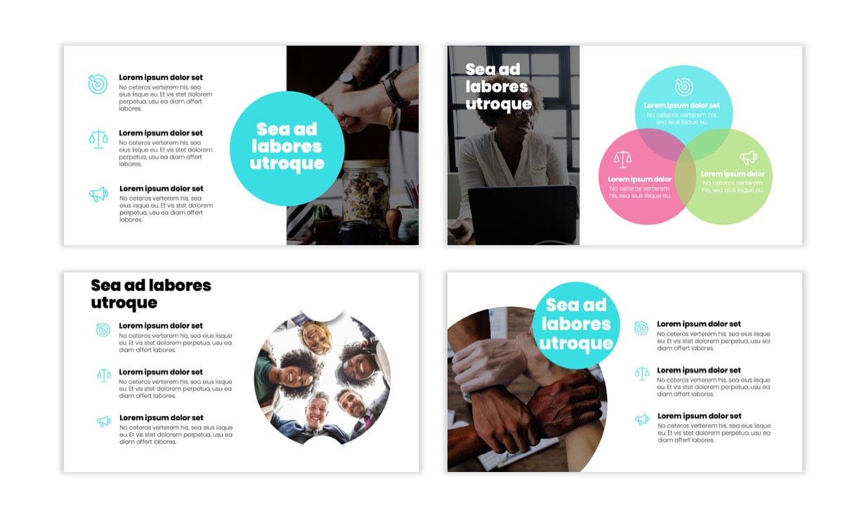 Circles PPT Template - Professional - Teal - Pink - Bright - Business - Professional Slide6