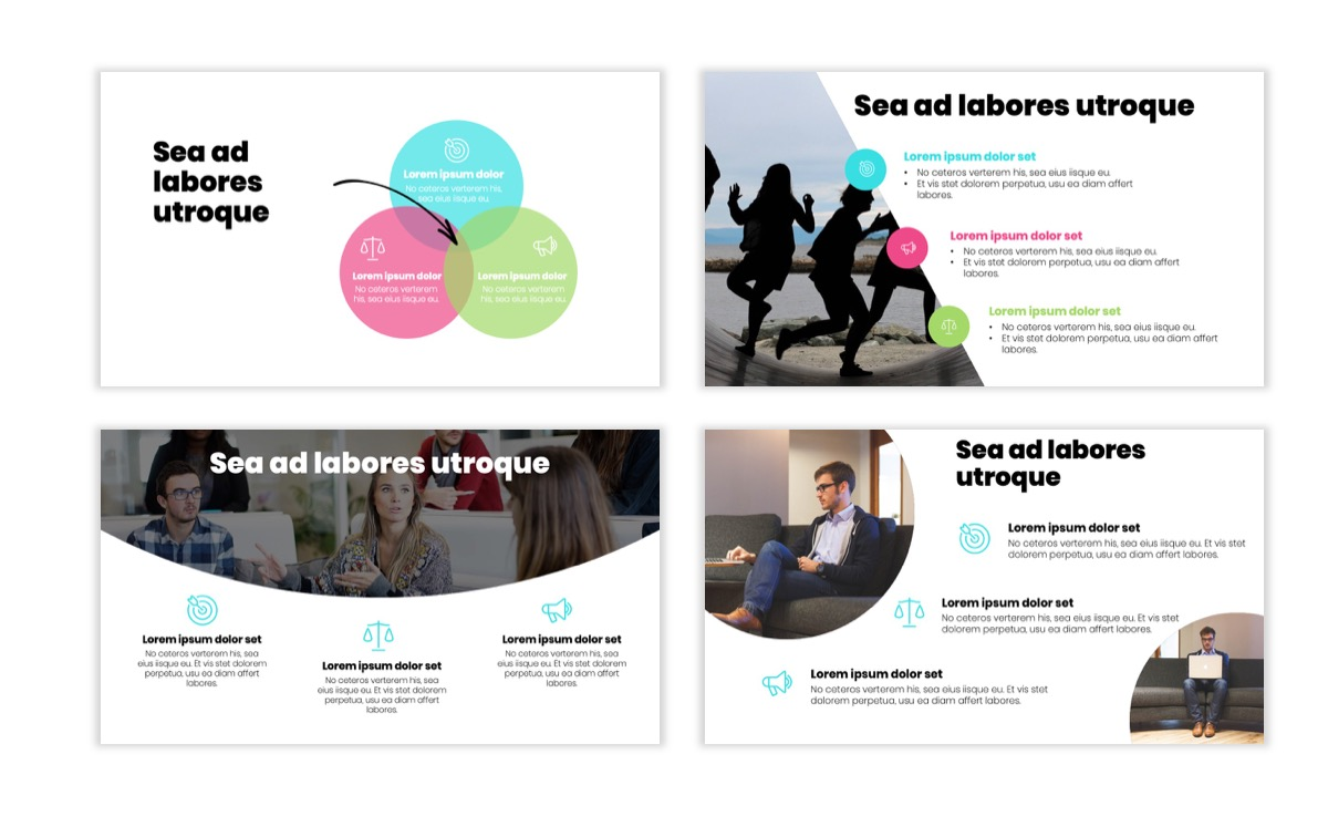 Circles PPT Template - Professional - Teal - Pink - Bright - Business - Professional Slide7