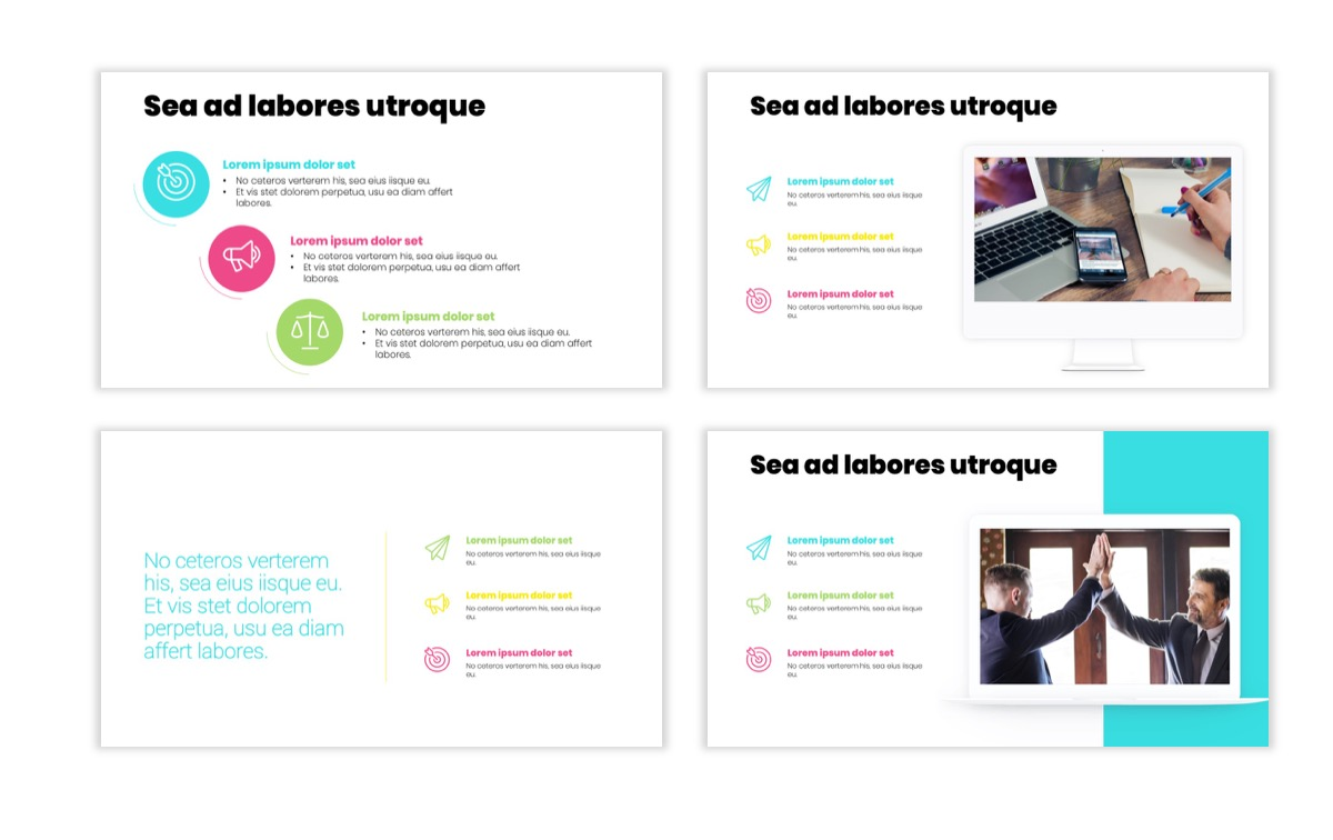 Circles PPT Template - Professional - Teal - Pink - Bright - Business - Professional Slide9
