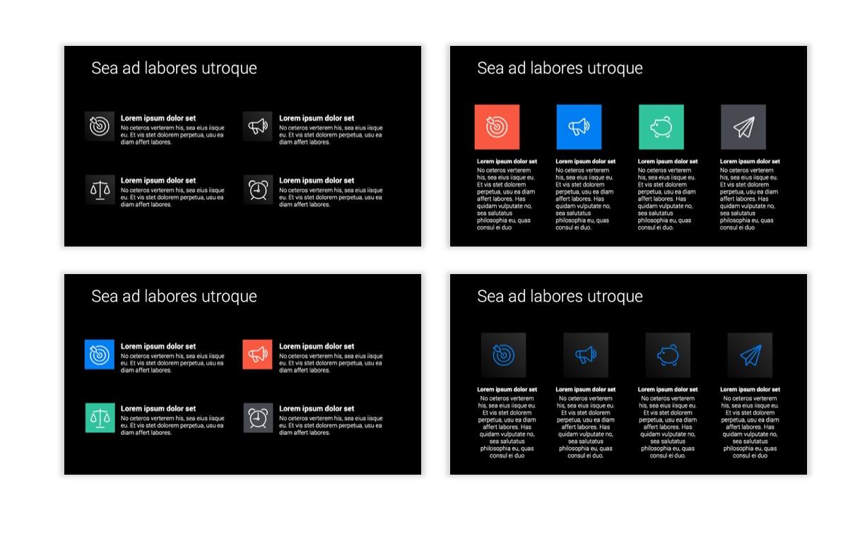Dark Minimal PPT Templates - Blue - Bright - Business - Professional Slide11