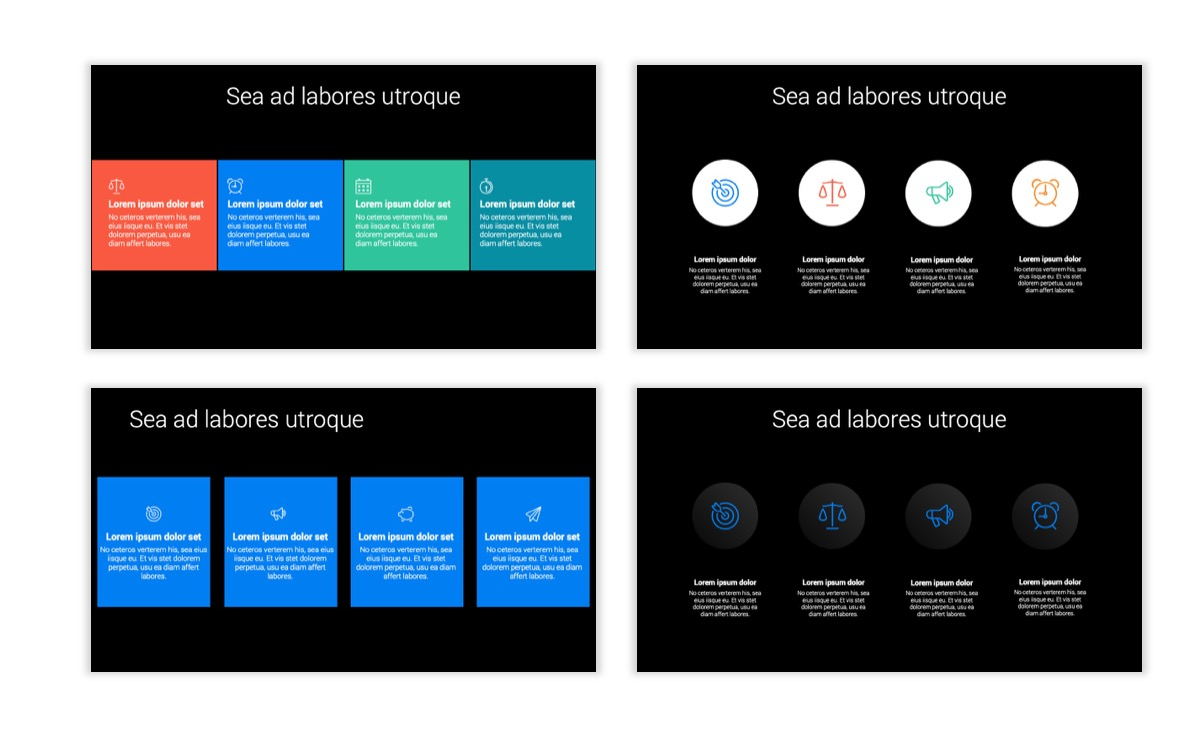 Dark Minimal PPT Templates - Blue - Bright - Business - Professional Slide14