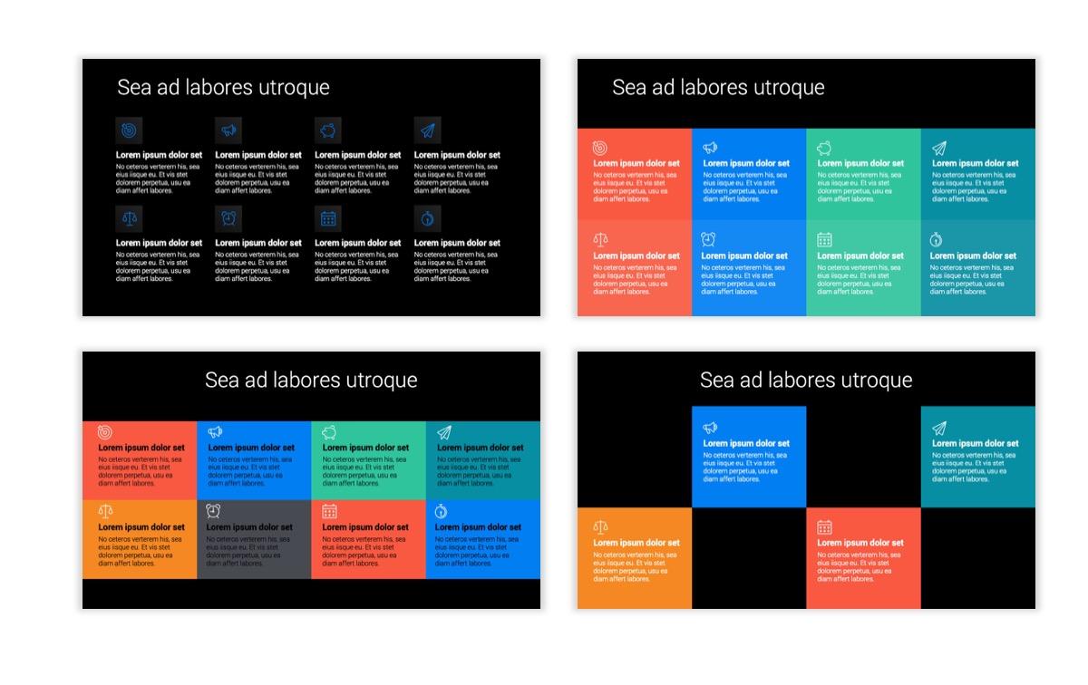 Dark Minimal PPT Templates - Blue - Bright - Business - Professional Slide18