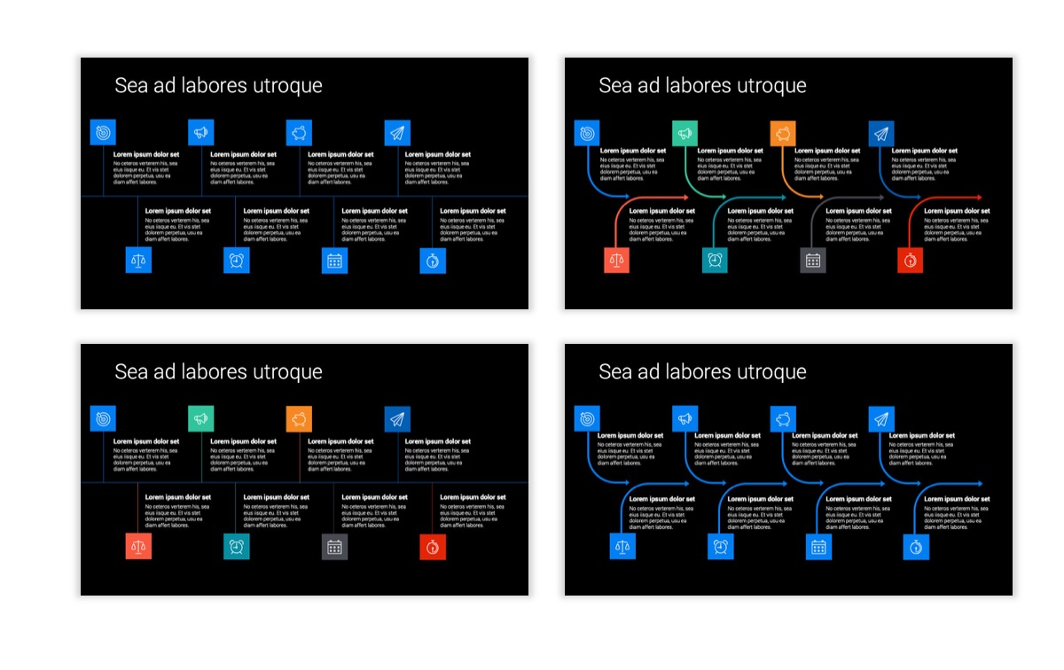 Dark Minimal PPT Templates - Blue - Bright - Business - Professional Slide19