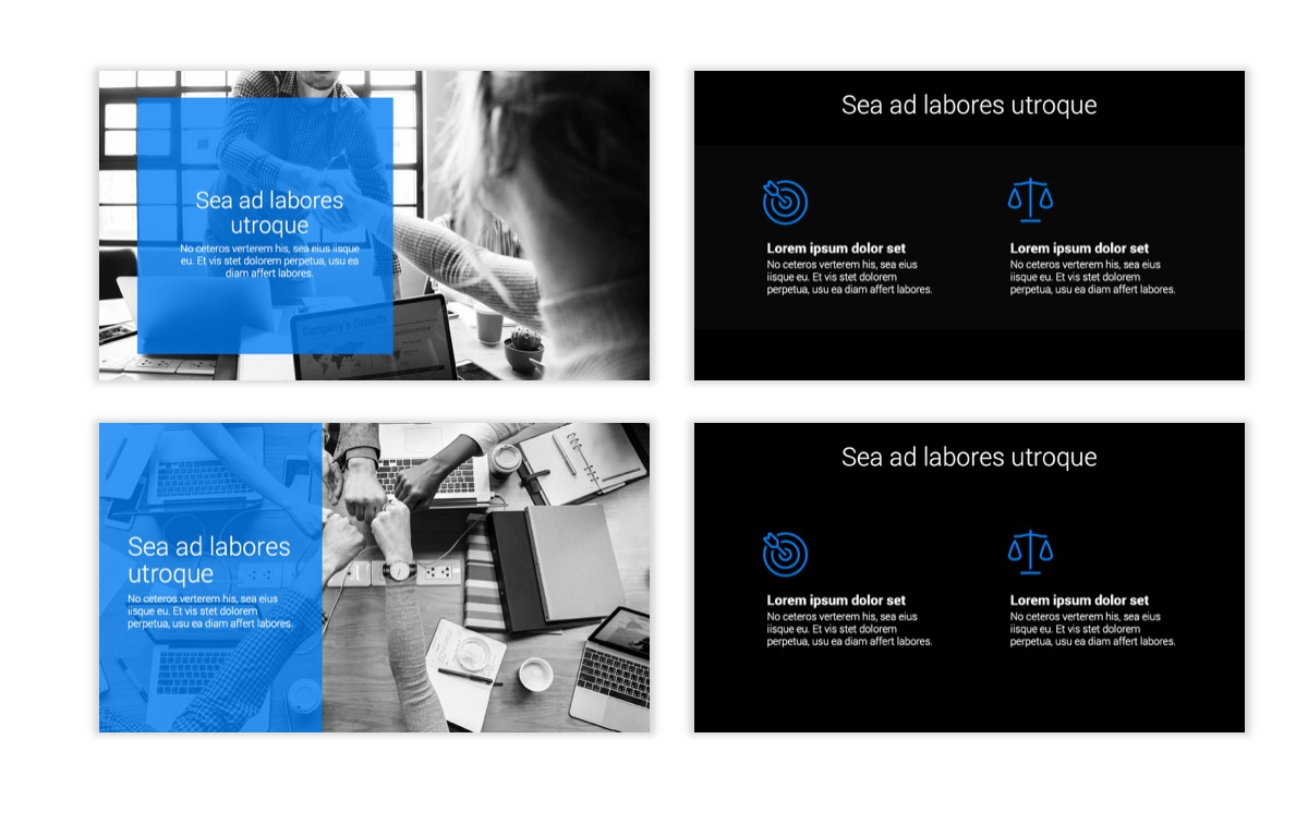 Dark Minimal PPT Templates - Blue - Bright - Business - Professional Slide2