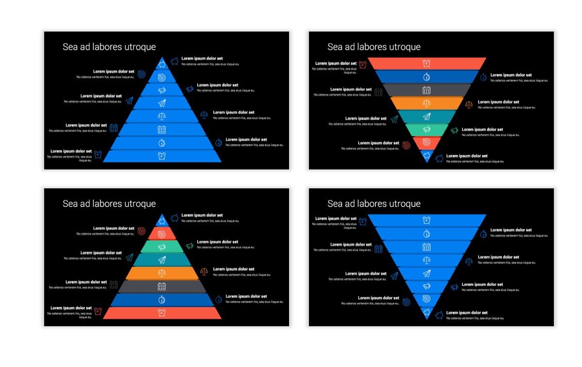 Dark Minimal PPT Templates - Blue - Bright - Business - Professional Slide22