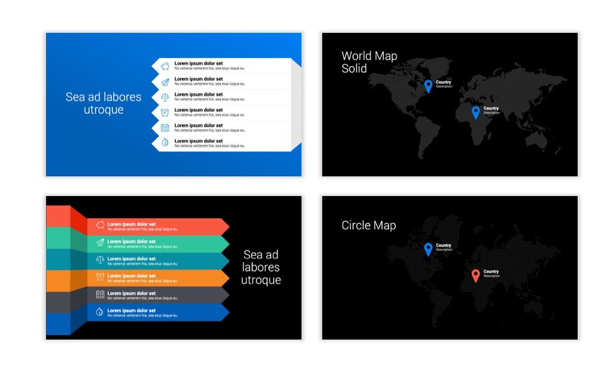 Dark Minimal PPT Templates - Blue - Bright - Business - Professional Slide23