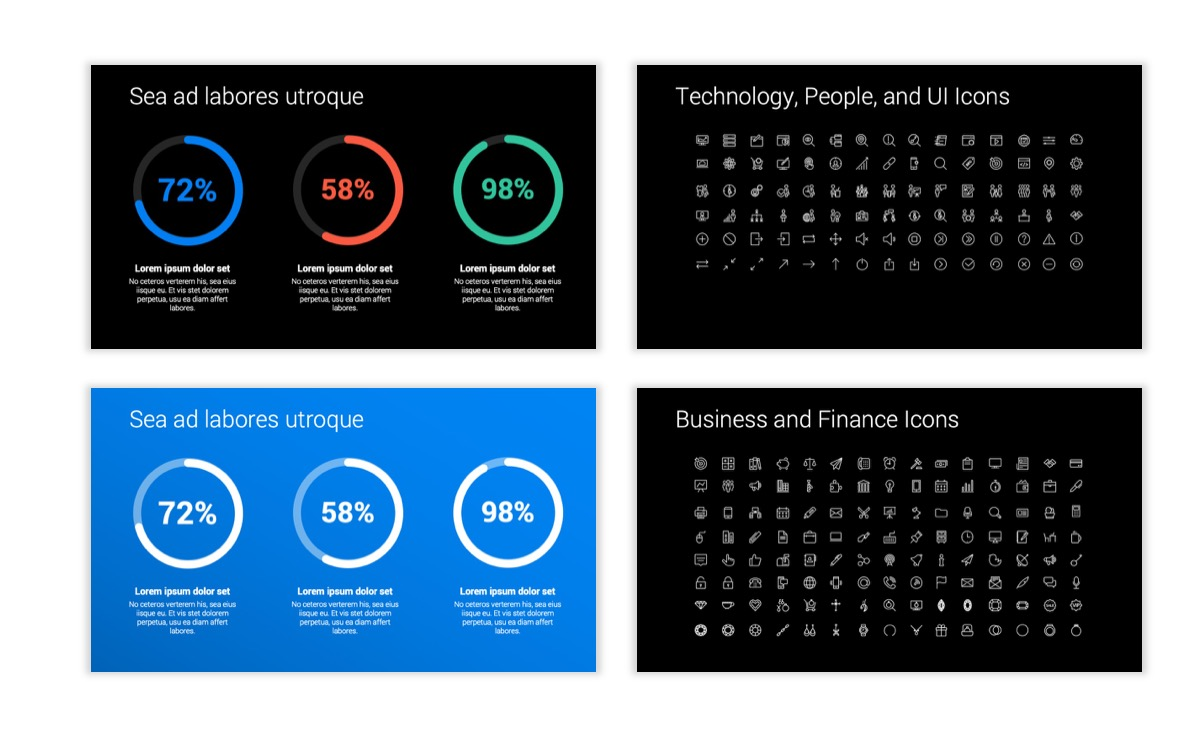 Dark Minimal PPT Templates - Blue - Bright - Business - Professional Slide26
