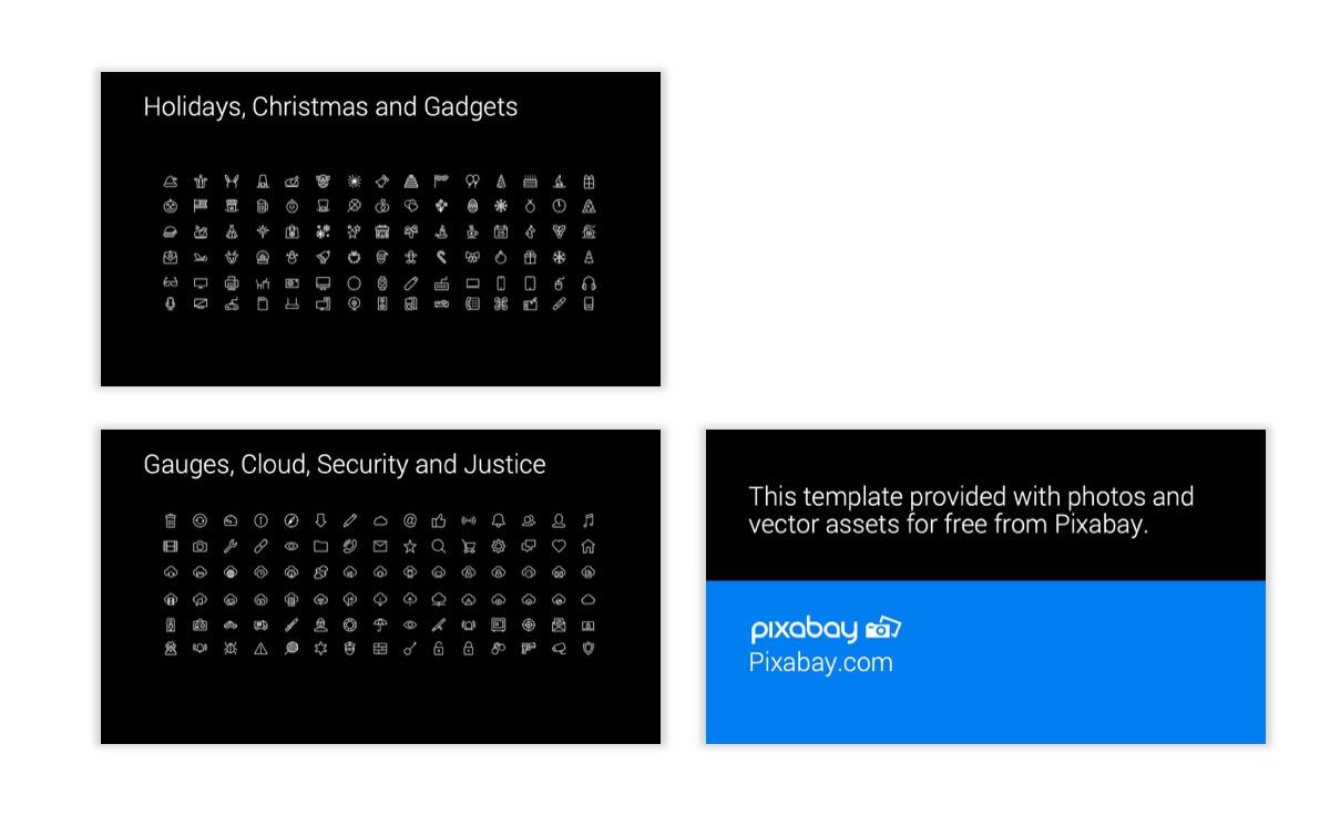 Dark Minimal PPT Templates - Blue - Bright - Business - Professional Slide28