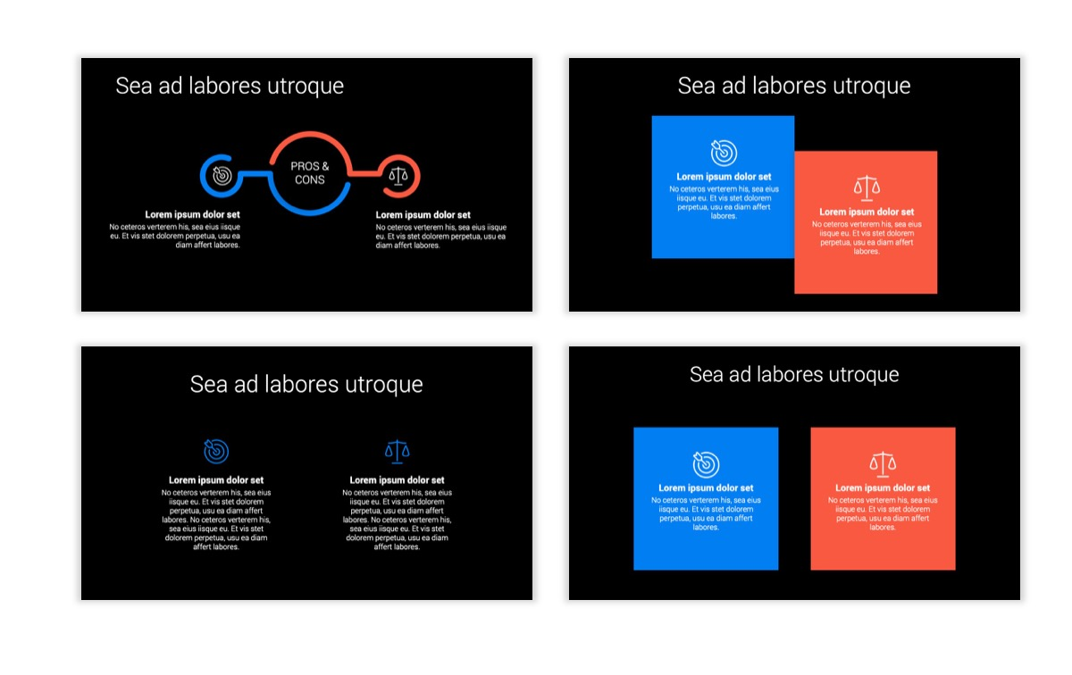 Dark Minimal PPT Templates - Blue - Bright - Business - Professional Slide3