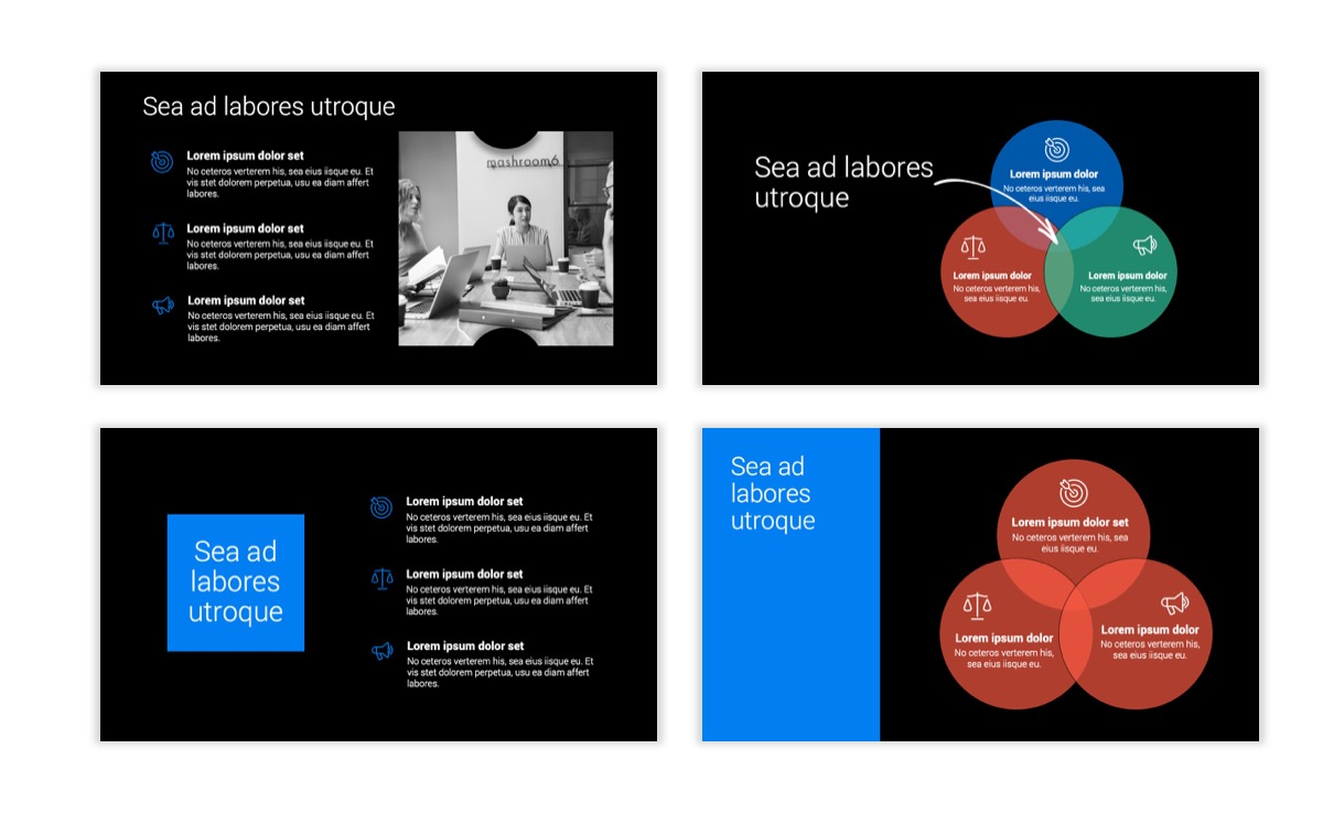 Dark Minimal PPT Templates - Blue - Bright - Business - Professional Slide6
