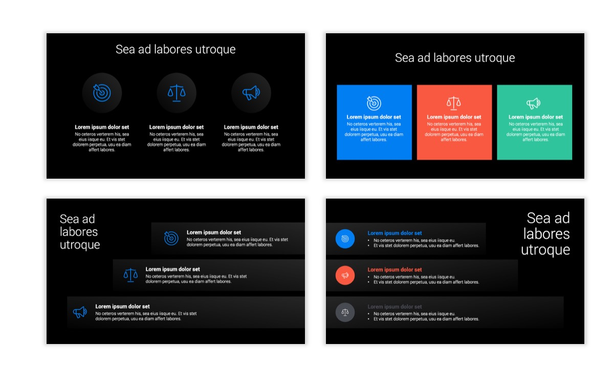 Dark Minimal PPT Templates - Blue - Bright - Business - Professional Slide7