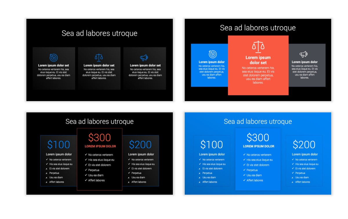 Dark Minimal PPT Templates - Blue - Bright - Business - Professional Slide8