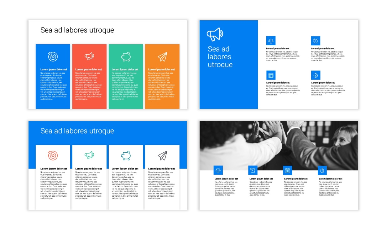 Minimal PPT Templates - Blue - Bright - Business - Professional Slide13