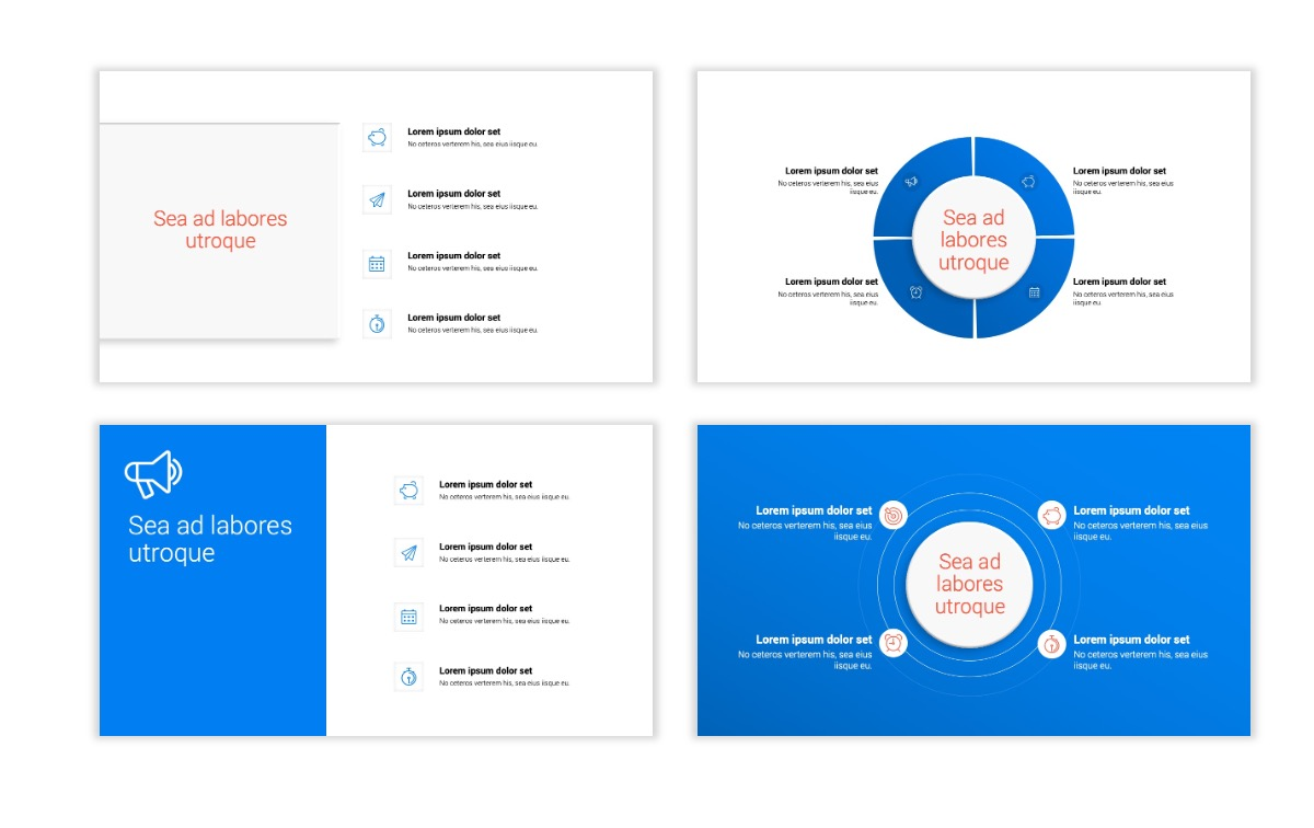 Minimal PPT Templates - Blue - Bright - Business - Professional Slide15