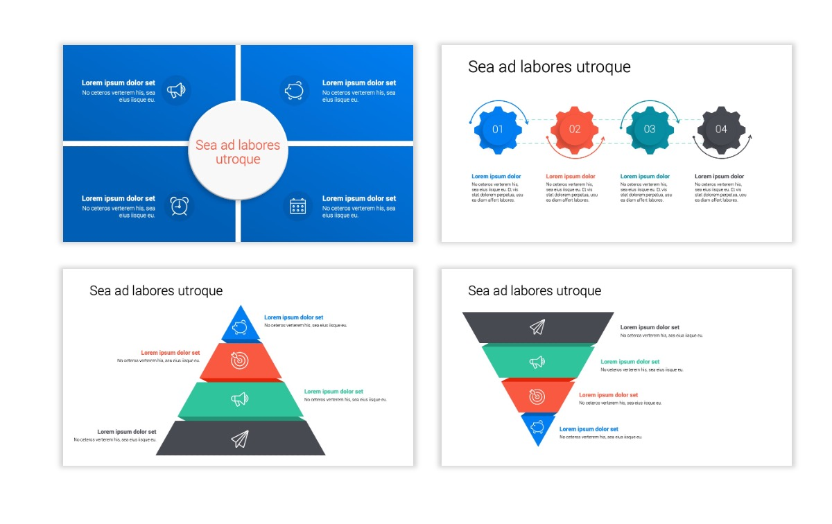 Minimal PPT Templates - Blue - Bright - Business - Professional Slide16