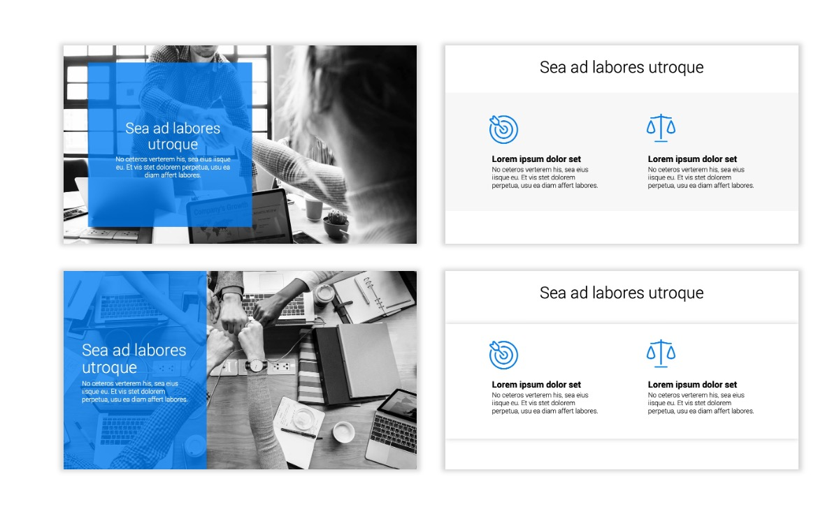 Minimal PPT Templates - Blue - Bright - Business - Professional Slide2