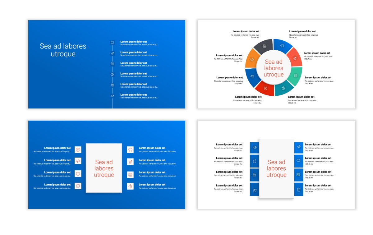 Minimal PPT Templates - Blue - Bright - Business - Professional Slide21