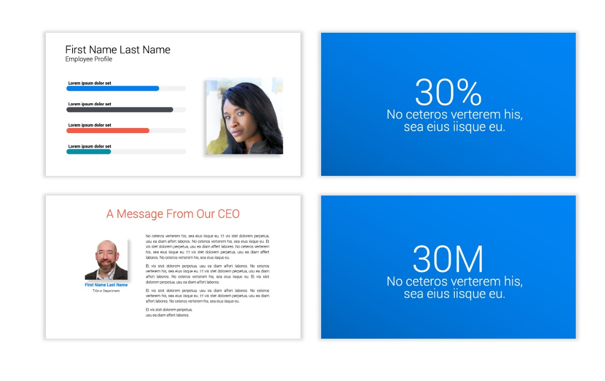 Minimal PPT Templates - Blue - Bright - Business - Professional Slide25