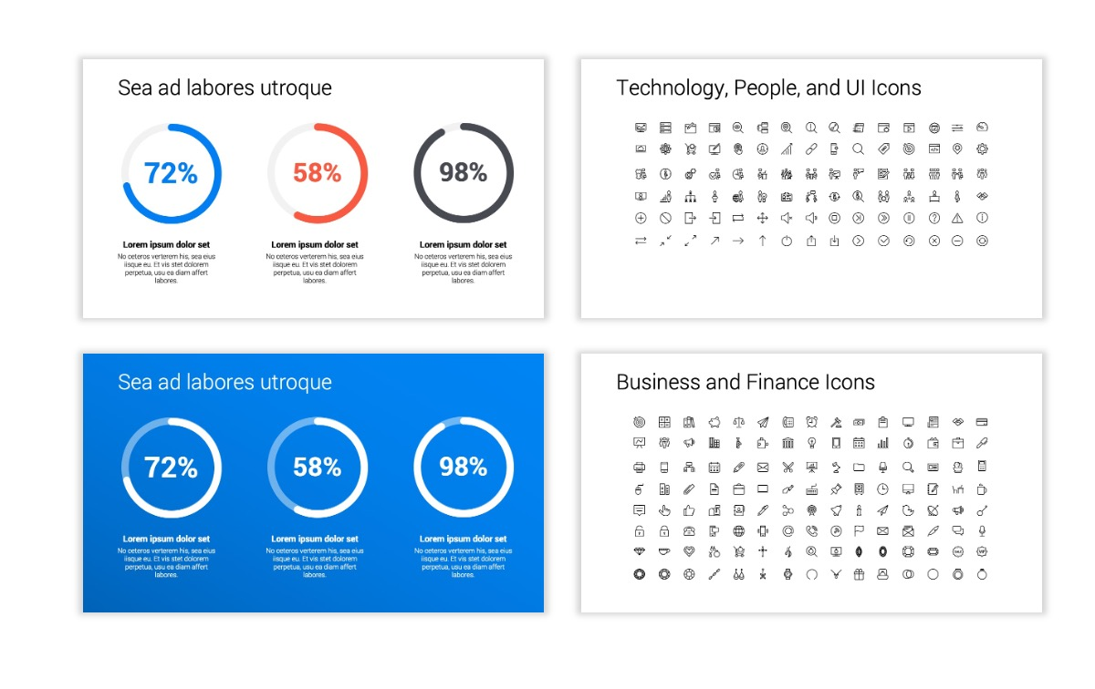 Minimal PPT Templates - Blue - Bright - Business - Professional Slide26