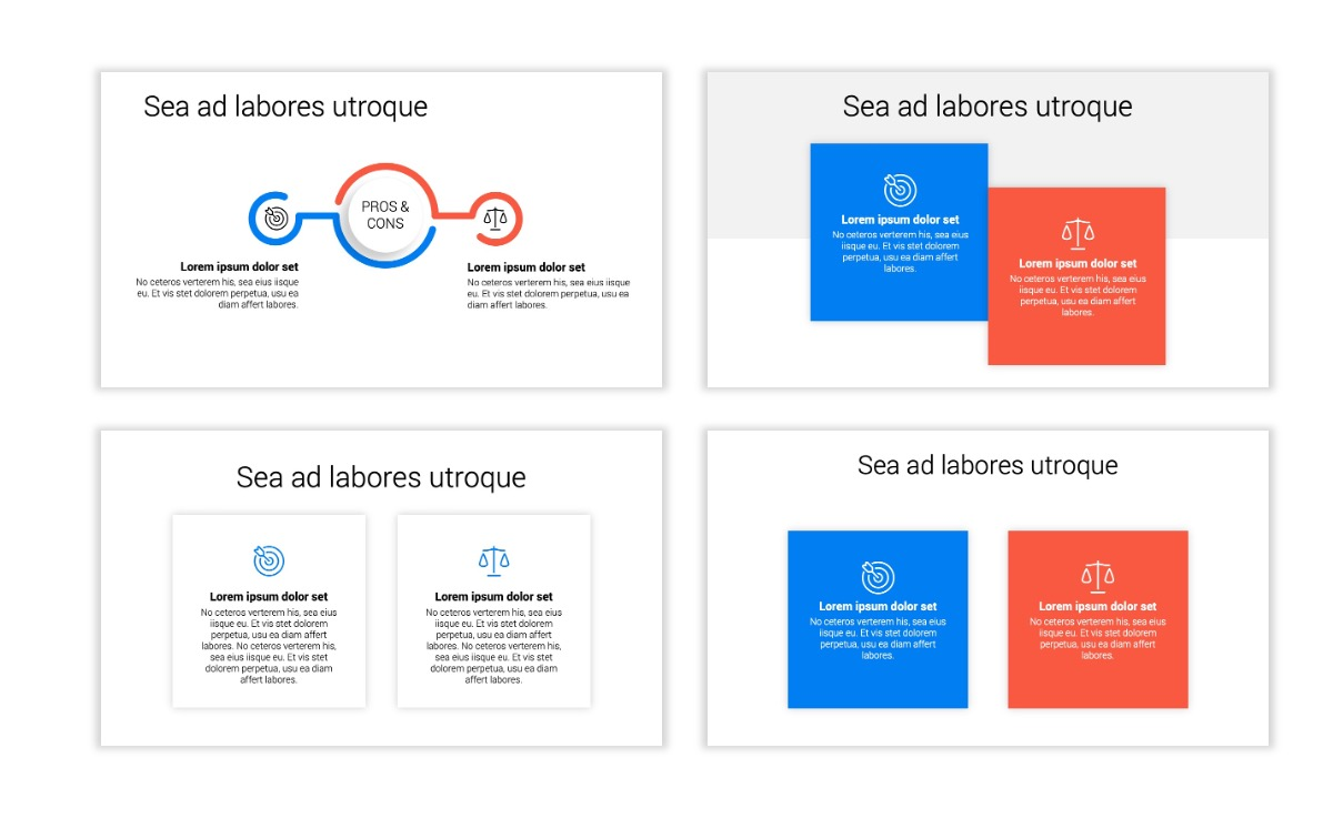 Minimal PPT Templates - Blue - Bright - Business - Professional Slide3