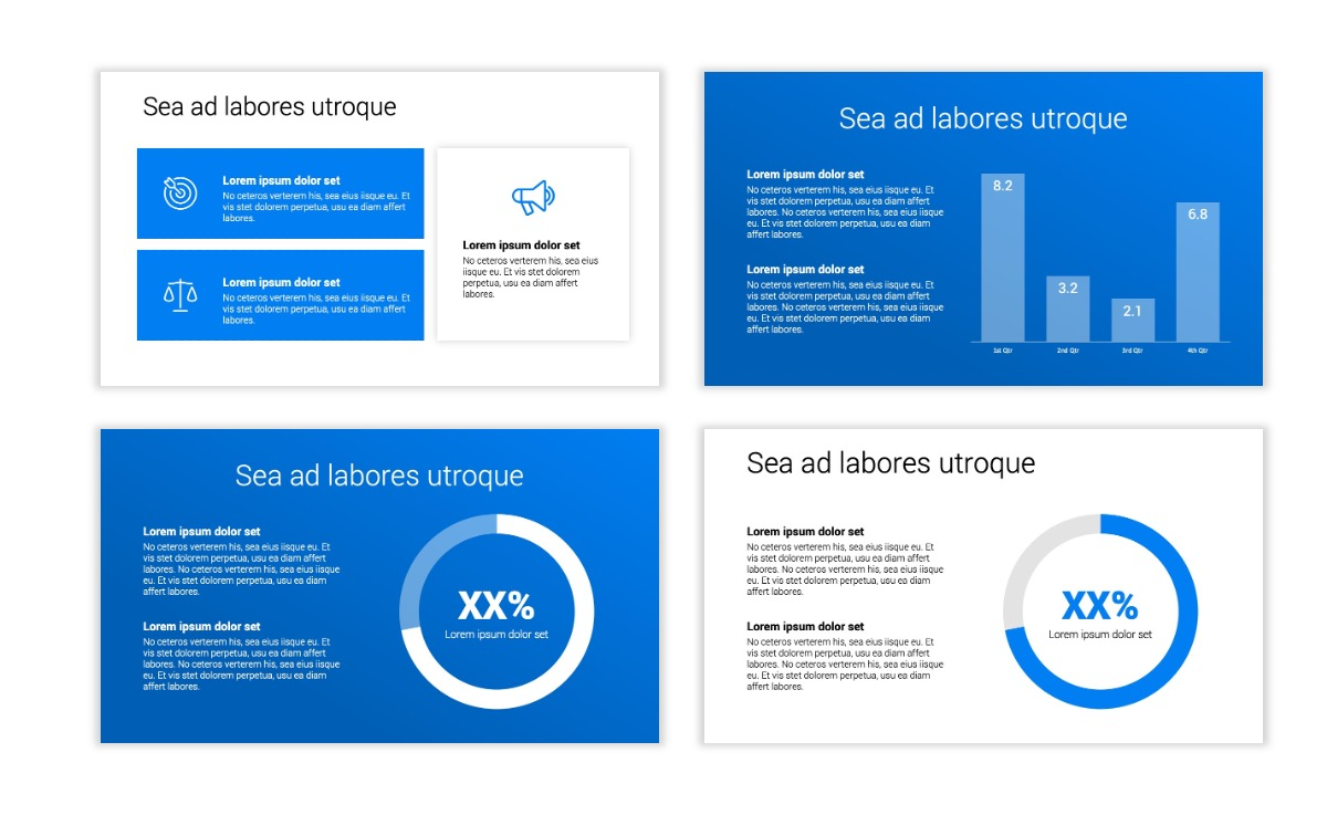 Minimal PPT Templates - Blue - Bright - Business - Professional Slide4