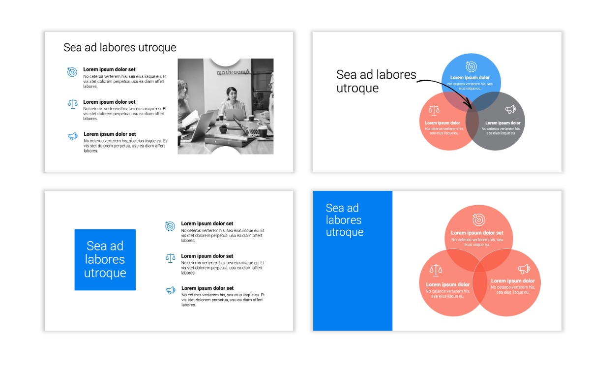Minimal PPT Templates - Blue - Bright - Business - Professional Slide6