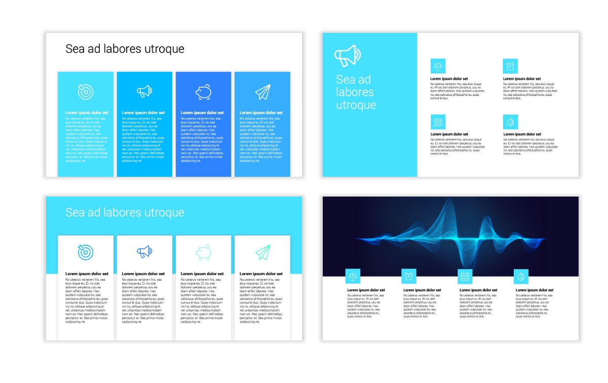 Minimal PPT Templates - Blue - Technology Slide13