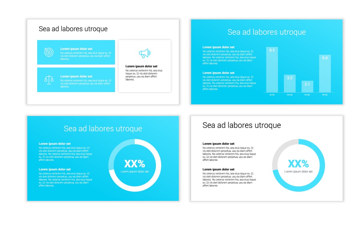 Minimal PPT Templates - Blue - Technology Slide4