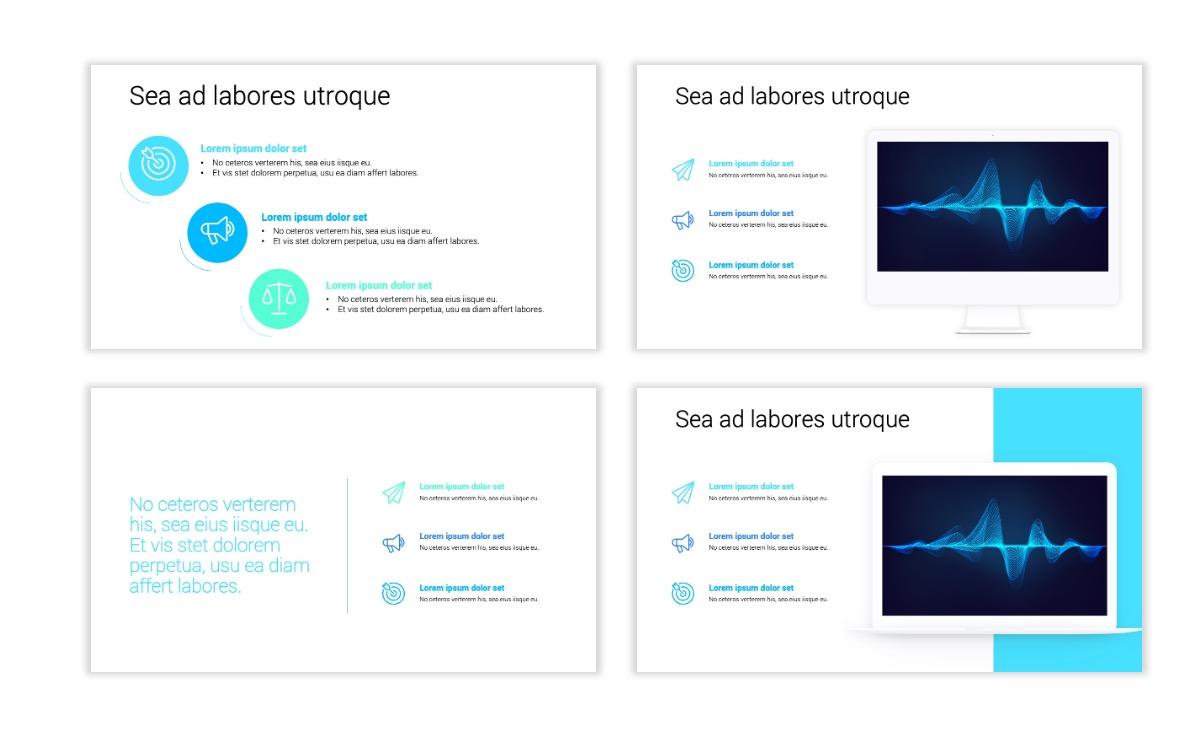 Minimal PPT Templates - Blue - Technology Slide9