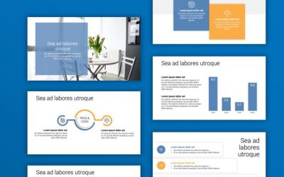 TORONTO MINIMAL GRAY BLUE POWERPOINT TEMPLATE