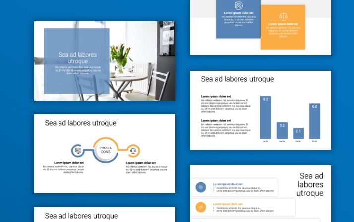 Toronto Minimal Blue Gray PowerPoint Template