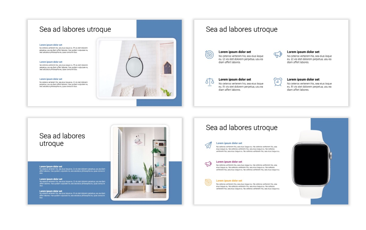 Minimal PPT Templates - Gray Blue -Bright - Interior Design - Real Estate Slide10