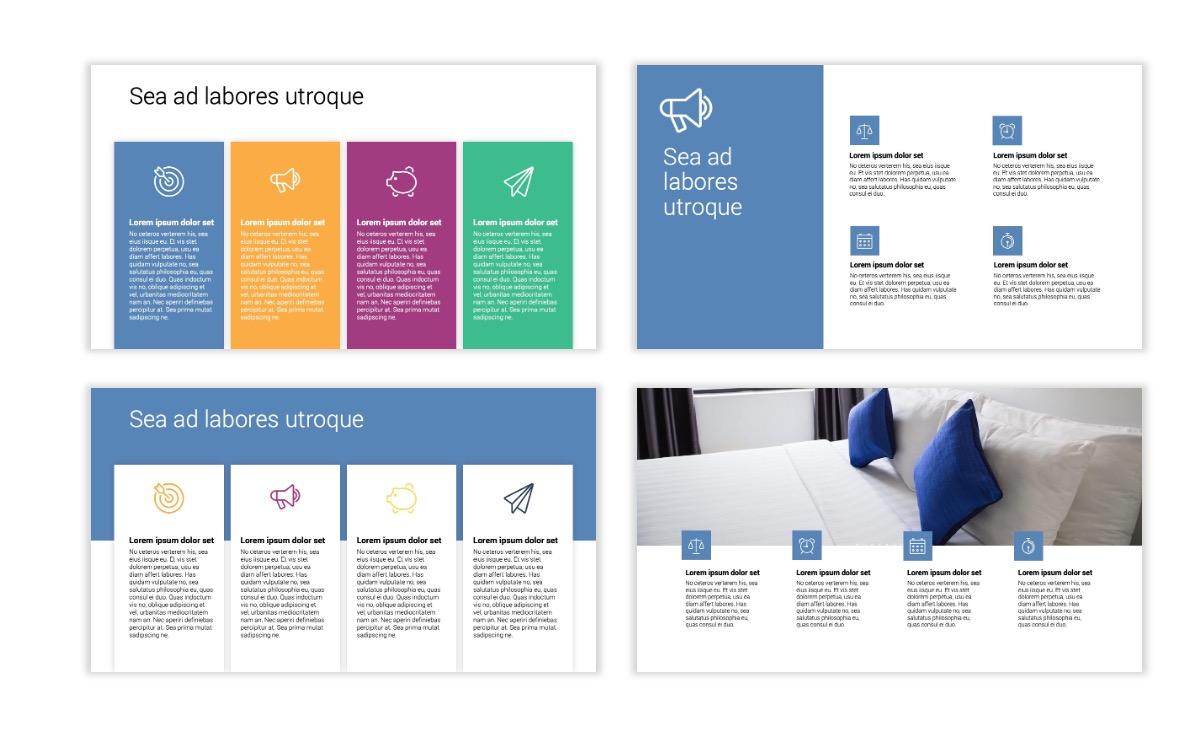 Minimal PPT Templates - Gray Blue -Bright - Interior Design - Real Estate Slide13