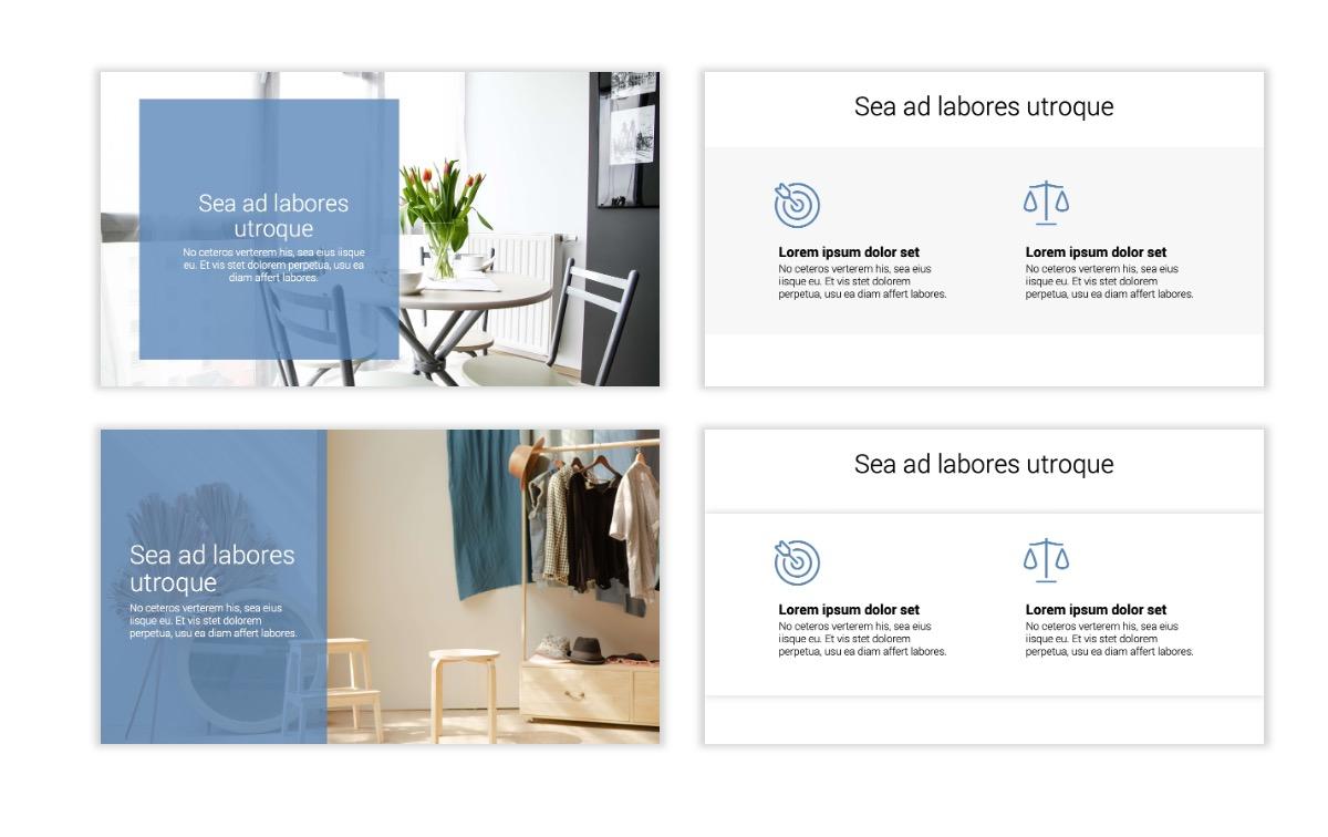 Minimal PPT Templates - Gray Blue -Bright - Interior Design - Real Estate Slide2