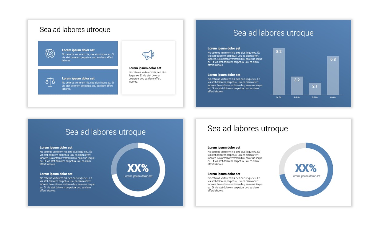 Minimal PPT Templates - Gray Blue -Bright - Interior Design - Real Estate Slide4