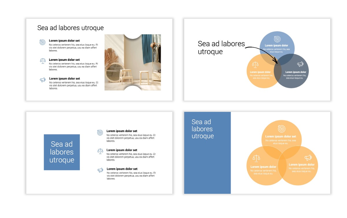Minimal PPT Templates - Gray Blue -Bright - Interior Design - Real Estate Slide6