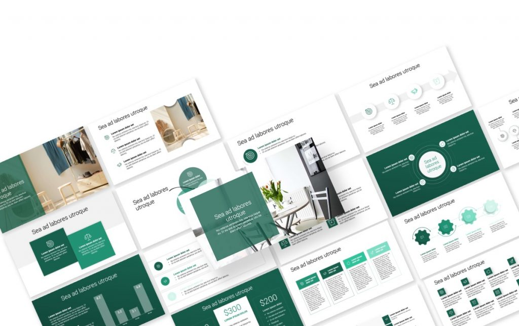 Toronto Minimal Green PowerPoint Template