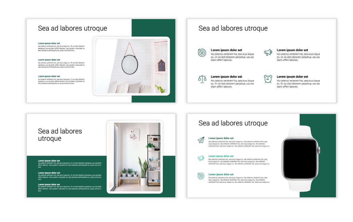Minimal PPT Templates - Green - Monochromatic - Interior Design - Real Estate -2 Slide10