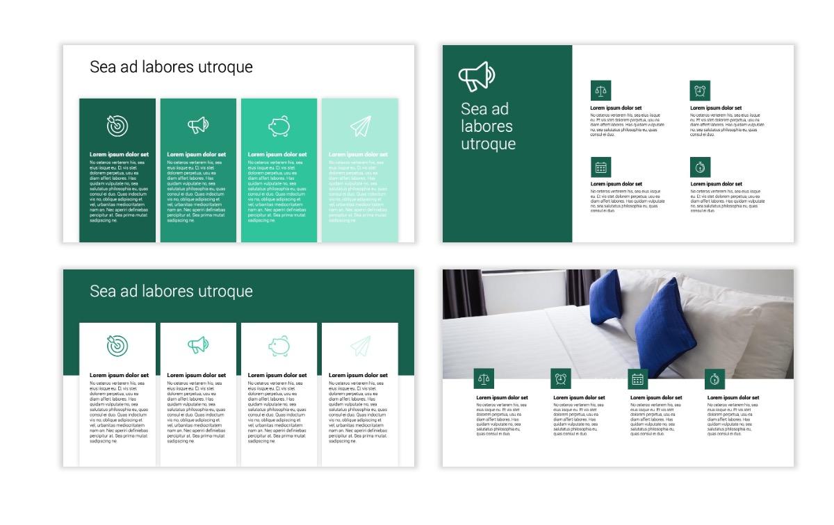 Minimal PPT Templates - Green - Monochromatic - Interior Design - Real Estate -2 Slide13