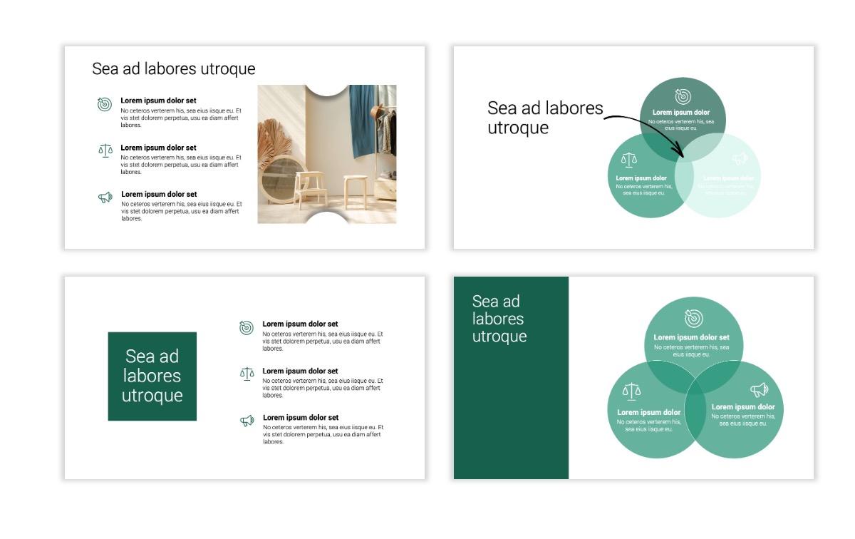Minimal PPT Templates - Green - Monochromatic - Interior Design - Real Estate -2 Slide6