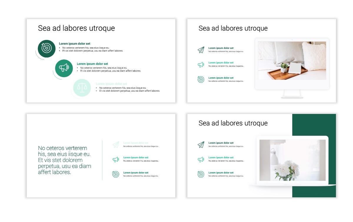 Minimal PPT Templates - Green - Monochromatic - Interior Design - Real Estate -2 Slide9