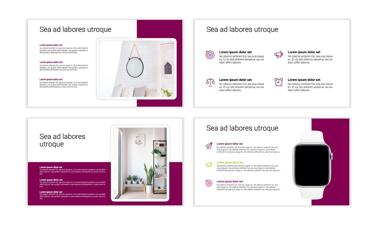 Minimal PPT Templates - Maroon - Bright - Interior Design - Real Estate Slide10