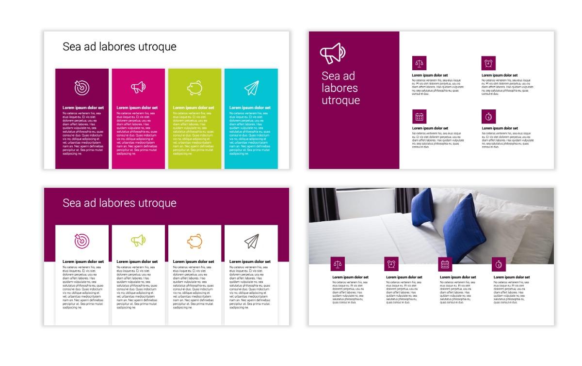 Minimal PPT Templates - Maroon - Bright - Interior Design - Real Estate Slide13
