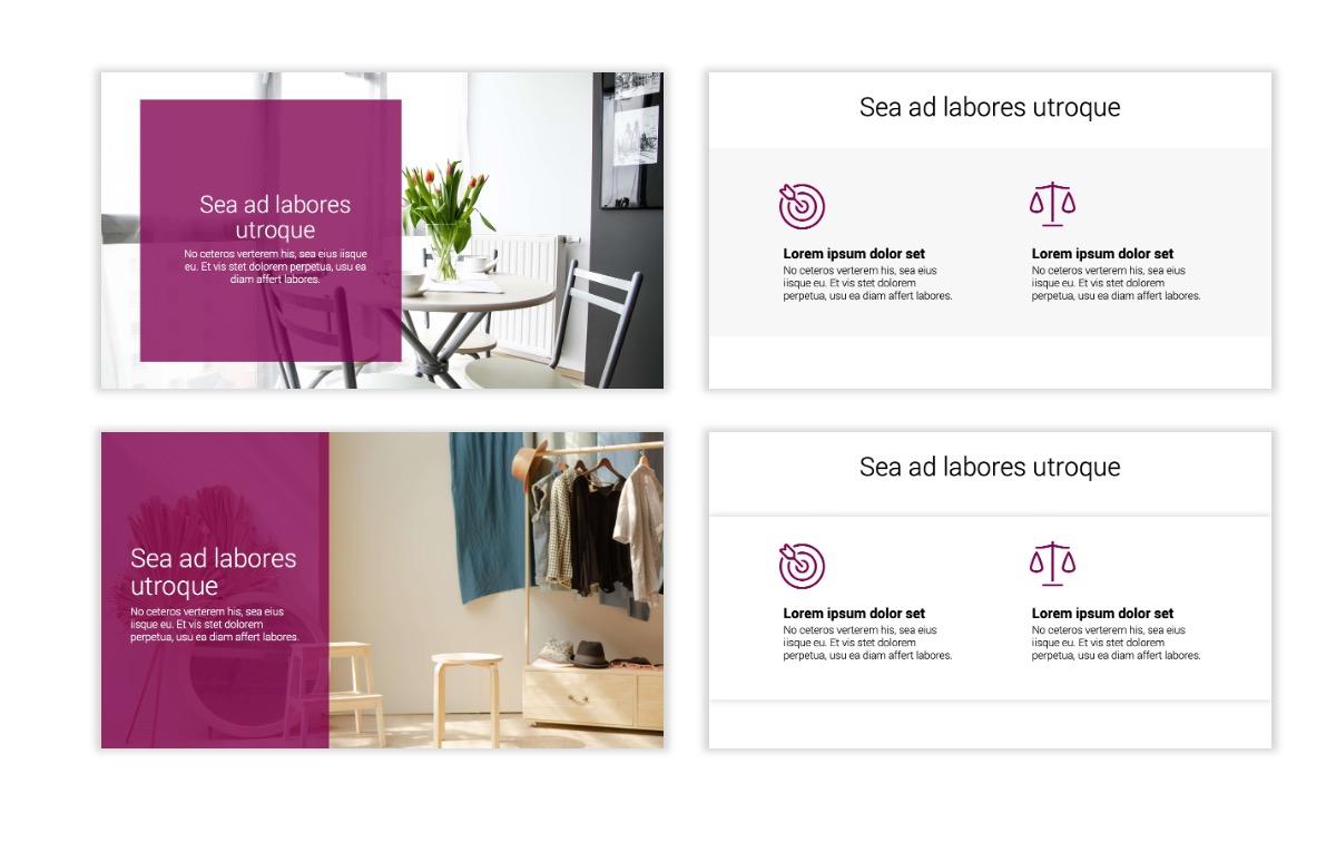 Minimal PPT Templates - Maroon - Bright - Interior Design - Real Estate Slide2