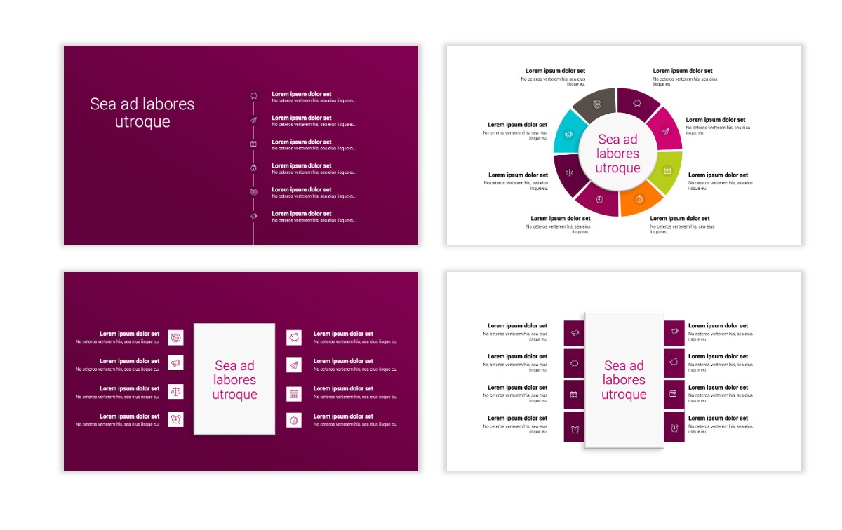 Minimal PPT Templates - Maroon - Bright - Interior Design - Real Estate Slide21