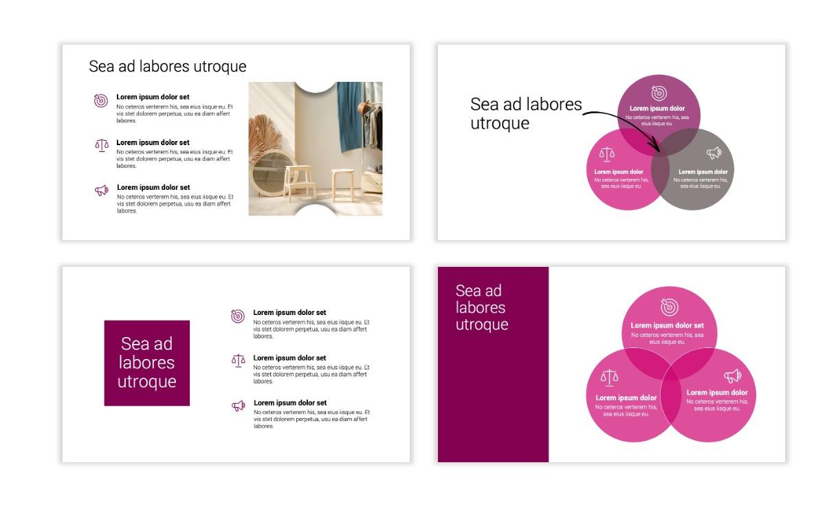 Minimal PPT Templates - Maroon - Bright - Interior Design - Real Estate Slide6