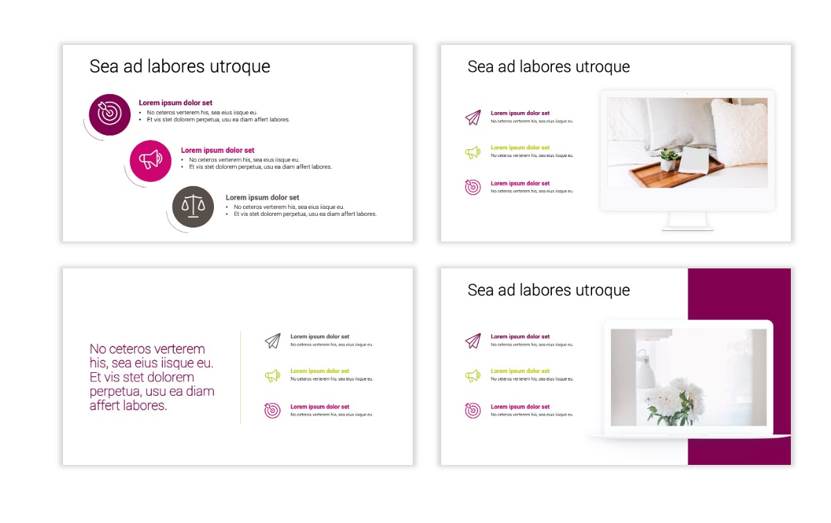 Minimal PPT Templates - Maroon - Bright - Interior Design - Real Estate Slide9