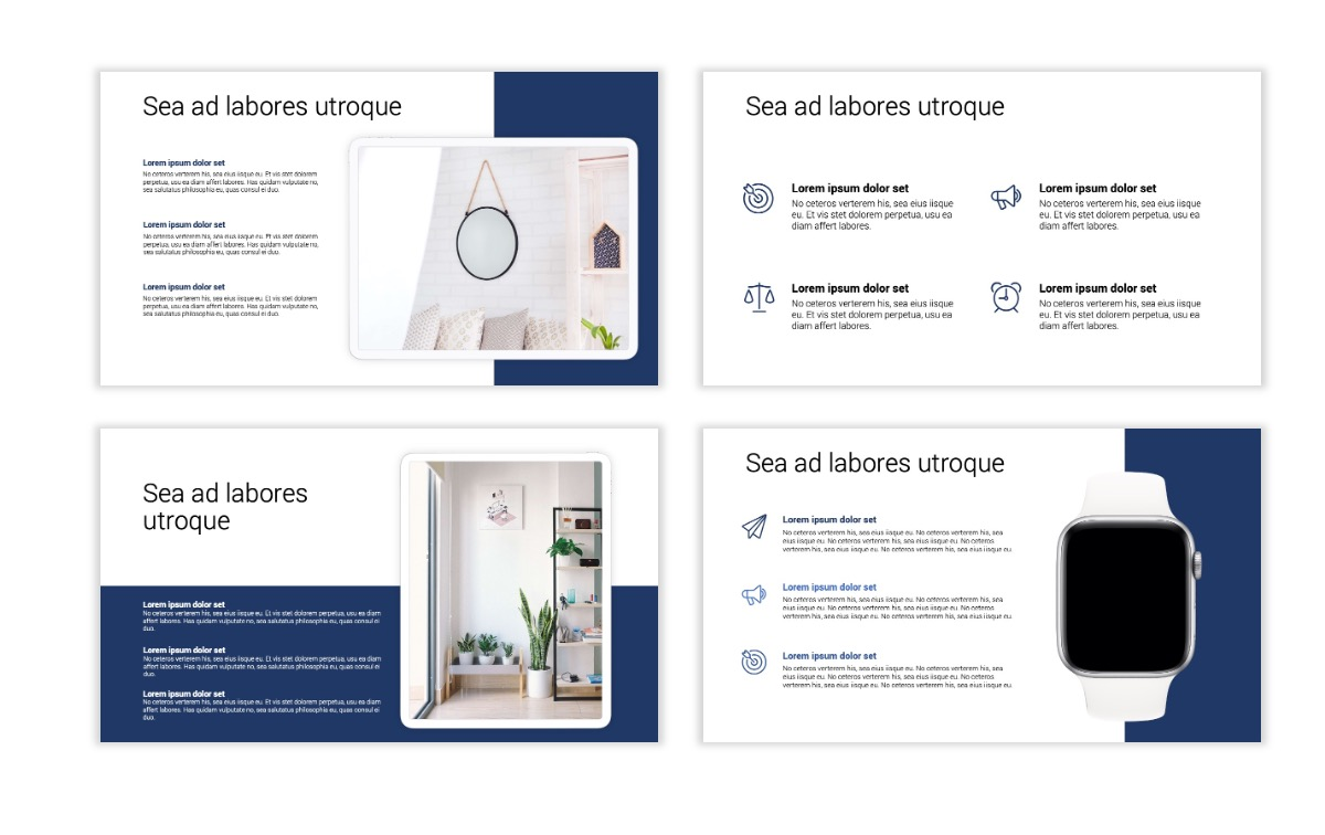 Minimal PPT Templates - Navy - Monochromatic - Interior Design - Real Estate Slide10